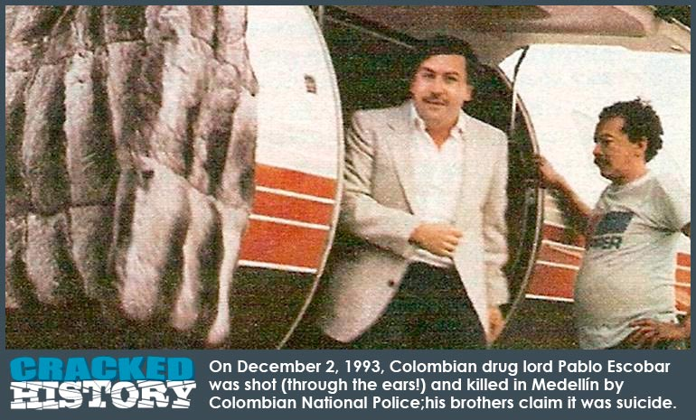 colombian drug lord pablo emilio escobar gaviria The world's most powerful drug lord, pablo emilio escobar gaviria was born on 1 december 1949 he was a colombian drug lord and narco-terrorist who doted on his family despite his criminal record he was born in rionegro, colombia and grew up in nearby medellin.